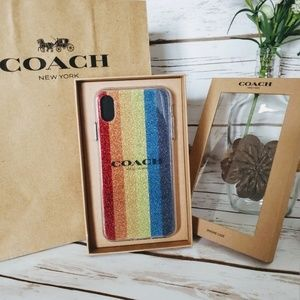 NIB | Coach iPhone X Glittery Multicolored Case